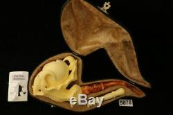 Eagle's Claw Hand Carved by KUDRET Block Meerschaum Pipe in a fitCase 9878