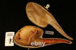 Eagle's Claw Meerschaum Pipe Hand Carved by Kenan with custom case 12842