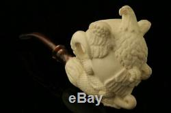 Eagle's Claw with Eagle Hand Carved Block Meerschaum Pipe with CASE 11004