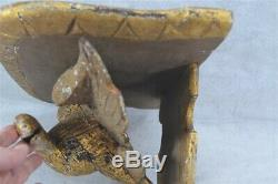 Eagle shelf hand carved glass eye gold 19 in architectural original 19th antique