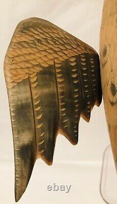Exceptional Mid Century Hand Carved Horn Eagle/Hawk Bird Sculpture RARE