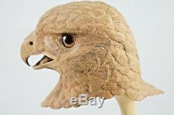 Exquisite Realistic Screaming Eagle Head and Stand Hand Carved TP Wolfgang