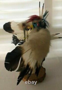 Hand Carved Eagle Dancer Kachina Doll Signed