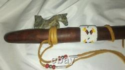 Hand Carved Eagle Head Native American Style Flute by Woodpecker Creations