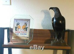 Hand Carved Ironwood Eagle Falcon Bird Masterpiece 1960's Vintage 11.5 Tall