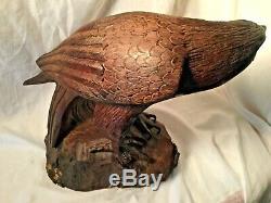 Hand Carved Large Ironwood Eagle Signed Jose Gpe. Lupe Figueroa M