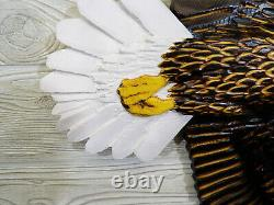 Hand Carved SOARING BALD EAGLE Wall Art Wood Chainsaw Realistic Carving Lodge