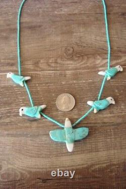 Hand Carved Turquoise Eagle Fetish Necklace Matt Mitchell
