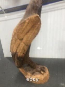 Hand Carved Wood Eagle 20, Unique Sculpture #12H