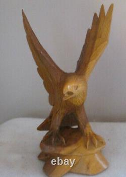 Hand Carved wooden Eagle Wings in full spread upwards 13 High By 6