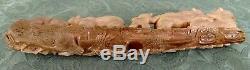 Hand carved polar bear statue sculpture eagle crow deer salmon alaska well done
