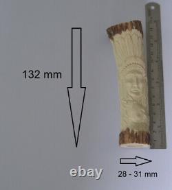 Horse Eagle Indian Carving 132mm Length Handle H1023 in Antler Hand Carved