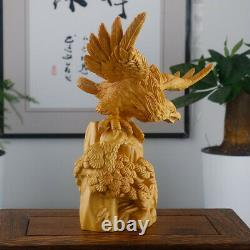 JM007 16 x 7.5 x16 Hand Carved Boxwood Carving Stunning Eagle