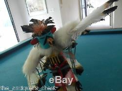 Kachina Katsina Eagle Dance by Spencer, Hand carved and painted carving