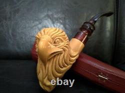 LARGE Handcarved Eagle Meerschaum Pipe by CPW Pipes #bd6