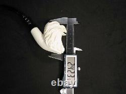 Meerschaum Eagle 100%block hand carved by CELEBI in Turkey new Pipe in case