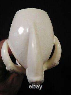 Meerschaum Eagle claw with egg hand carved pipe by CELEBI in Turkey in case