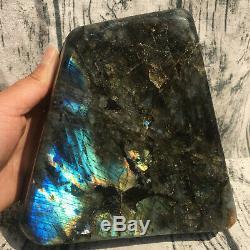 Natural Labradorite eagle skull crystal spectrolite hand carved healing SK236YX
