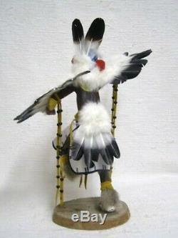 Navajo-Hopi HANDCARVED 18.75 Old Style Eagle Great Spirit Katsina Kachina Doll