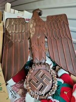 Nazi eagle hand carved wooden Reichsadler beautiful