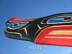 Northwest Coast First Nation native art hand carved cedar 23 Eagle, Indigenous