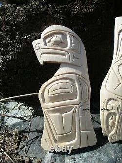 Northwest First Nations Collection of hand carved Eagle, Salmon, Whale wall art