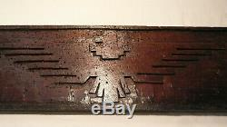 RARE 60's UNITED FARM WORKERS HAND CARVED EAGLE WOOD PLAQUE