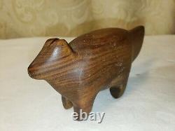 RARE carpin etto Palo Santo wood animal figure mid century modern hand carved