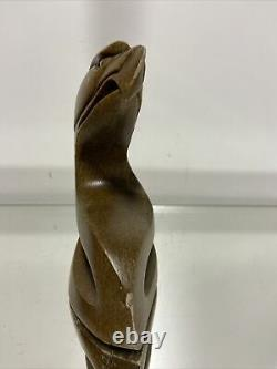Six Nations Canadian Hand Carved Abstract Stone Eagle Sculpture Clifton Henry