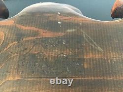 VINTAGE HAND CARVED VERY LARGE WOOD EAGLE THE ORIGINAL PINE SHOP 1962 (Estate)