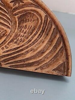 VINTAGE RARE 1/2 MOON EAGLE BUTTER PRESS STAMP hand carved