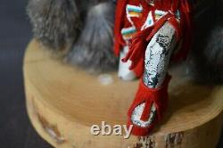 VNTG Hand Carved Kachina B. Begay Wood Navajo Double Eagle Native American SGND