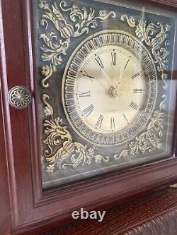 VTG Thomas Pacconi Classic Hand Carved Ornate Gold Eagle Office Clock Safe Box