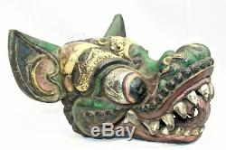 Vintage Balinese Garuda Eagle Mask Hand Carved wood Bali FOLK ART Indonesian