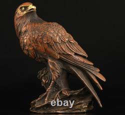 Vintage Collection Chinese Bronze Hand Carved Statue Lifelike Eagle Box Casting