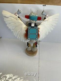 Vintage Eagle Dancer- Native American Dancer Doll Hand Carved & Painted 18 Tall
