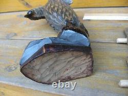 Vintage Eagle (falcon) USSR Russian Hand Carved Wood Figure