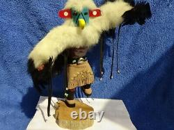 Vintage Hand Carved 12Tall Navajo Eagle Kachina by F. Charlie