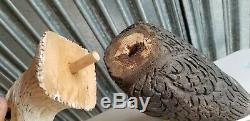 Vintage Wooden Hand Carved Duck Decoy American Bald Eagle