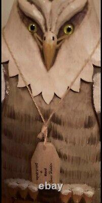 Wood Carved Handcarved Eagle Home Decor