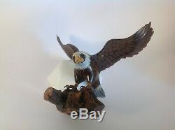 Wooden Eagle Hand Carved And Painted