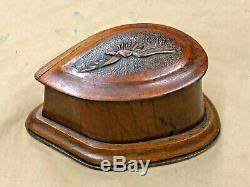 Ww1 Rfc Propeller Wooden Desk Top Box. Hand Made With Carved Eagle Insignia