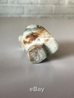 Zuni Bird Eagle Fetish Hand Carved Grey Stone Signed By Frank Nieto Native